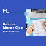 Resume Master Class for Medical Experts by Amy Fogelman, MD: Get on the Waitlist [Headshot of Dr. Fogelman]